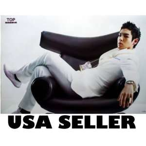 Bigbang frontman Top across chair POSTER 34 x 23.5 Korean boy band Big
