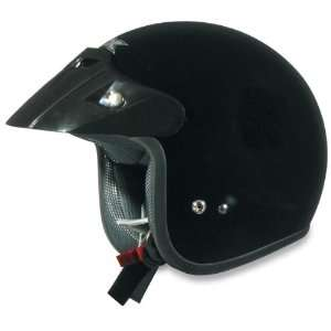 FX 75 Open Face Motorcycle Helmet Black Medium M 0104 0073 Automotive