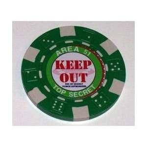 Area 51 UFO Las Vegas Casino Poker Chip limited edition