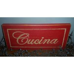 CUCINA Kitchen Rustic CUSTOM Italian Home Decor Wood Sign Plaque