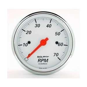 Auto Meter 1398 WHITE IN DASH TACH Automotive