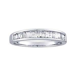 1/2 Carat Baguette Diamond 14k White Gold Channel Set