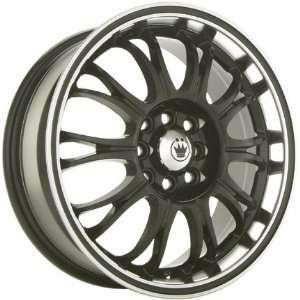 14x6 Konig Quiz (Gloss Black w/ Machined Lip) Wheels/Rims 4x100/114.3