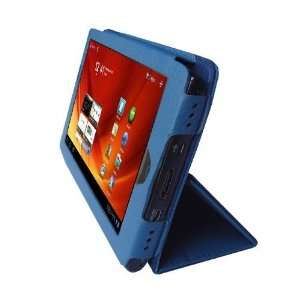 Gizmo Dorks Faux Leather Folio Case (Blue) with Carabiner