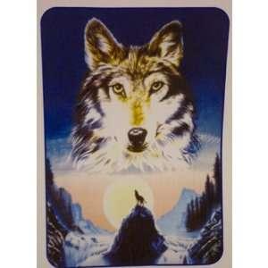 Super Plush Wolf Queen Mink Style Blankets 79x95