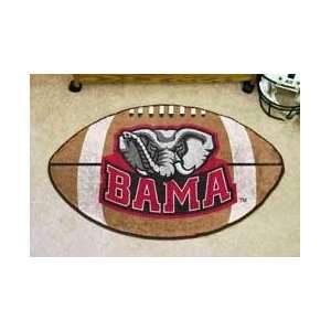 NCAA ALABAMA CRIMSON TIDE FOOTBALL SHAPED DOOR MAT RUG