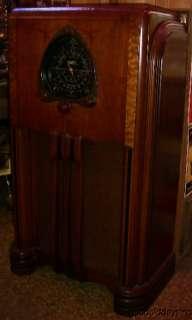 Antique Art Deco 1938 Zenith Tube Radio 6 S 254 Restored Works Well