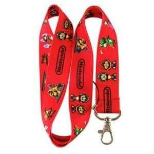 New Super Mario Bros. Family (RED) Lanyard Key Chain