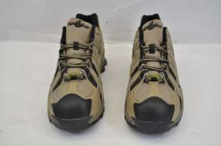 LITE SAFETY TOE ESD ATHLETIC (AOU) TAN BROWN BLACK LEATHER 11.5