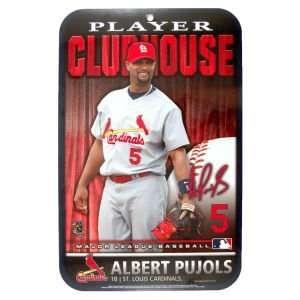 St. Louis Cardinals Albert Pujols Wincraft Clubhouse Sign