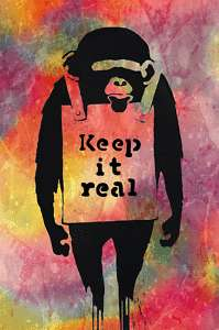 Banksy  Keep it Real  Graffiti street art