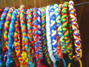 10 TWISTED WRIST BAND FRIENDSHIP BRACELET PERU crafts