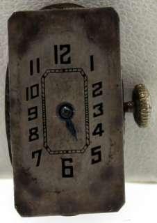 1920s Antique 18k White Gold Filigree Hoffrers Wrist Watch Diamonds