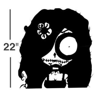 VINYL DECAL sticker sugar skull gothic wall art decor car 00006