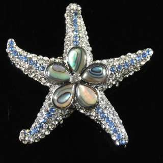 Y0163 Abalone shell star pin brooch pendant