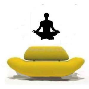 YOGA POSITION Giant 22 High BLACK Vinyl STICKER / DECAL