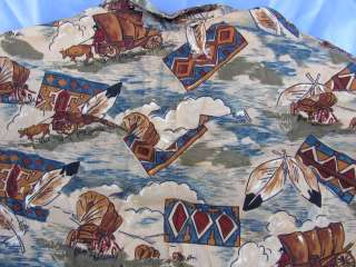 PANHANDLE SLIM Western COWBOY INDIAN Shirt mens XL Feather Drum Coverd