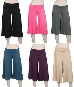 crop capri PALAZZO GAUCHO pants S   XXXL Size 0 20 Many COLORS