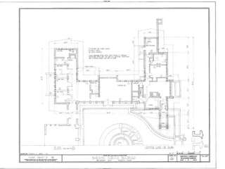 Prairie Style Home Plans, Purcell & Elmslie masterpiece, single story
