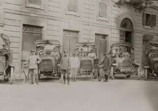 WWI French soldiers & Old cars car Photo Foto
