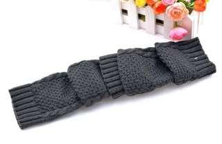 Womens Cute Fashion Diamond Knitting Winter Glove Deep Gray a111