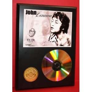John Lennon 24kt Gold CD Disc Display   Cool Music Art   Award Quality