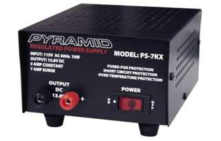 Pyramid PS 7KX Regulated 12 Volt 5 amp Power Supply