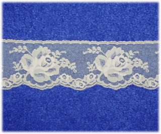 ROSE SALE 5 YRDS/4 STYLES/SIZES * BEAUTIFUL LACE TRIM