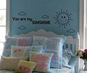 You are my sunshine baby nursery wall decal sticker