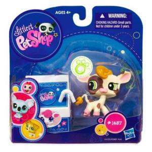 NEW! LITTLEST PET SHOP VANILLA CHOCOLATE MILK COW #1457