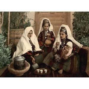 Group of women of Bethlehem Holy Land (i.e. West Bank) 24 X 18