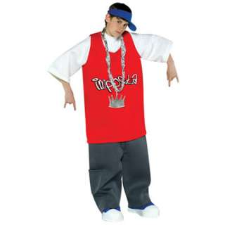 Yo Imposta Teen 12 16 Rapper Rap Costume Jumpsuit Tie Halloween Ret $