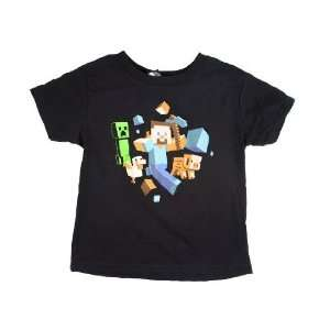 Official Minecraft Youth T shirt Run Away with Steve  Youth Size