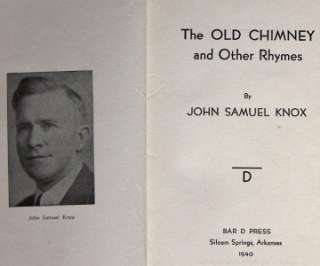 Samuel Knox, Poetry 1940. Inscribed  To my good friend V.H. Young