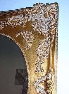 LA2AF110 * LARGE GILDED WOOD STUCCO FRAMED MIRROR 1950´S MID CENTURY