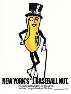 1984 Planters Mr Peanut New Yorks #1 Baseball Nut Ad