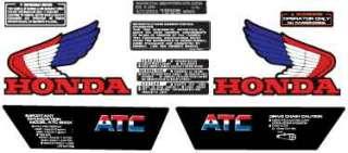 1985 85 ATC 200x 10pc ATV Graphics Sticker Decals Kit