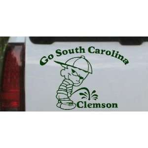 Go South Carolina Pee On Clemson Car Window Wall Laptop Decal Sticker