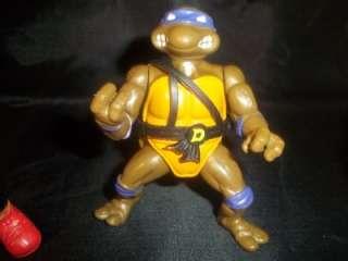 Lot of 7 Teenage Mutant Ninja Turtles 1988 Figures TMNT Some Weapons