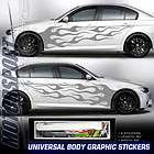 UNIVERSAL FITS AUTO CAR BODY GRAPHIC VINYL STICKER DECAL DARK SILVER
