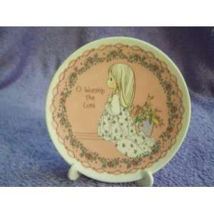 Precious Moments O Worship The Lord Mini Collectible Plate by Enesco