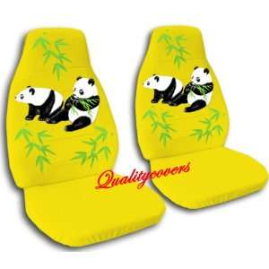 2 yellow Panda bear car seat covers, for a 2003 Ford