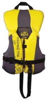 Full Throttle Infant Yellow Rapid Dry Neoprene/Nylon Life Jacket Vest