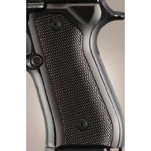 Hogue Beretta 92 Grips Checkered Aluminum Brushed Gloss
