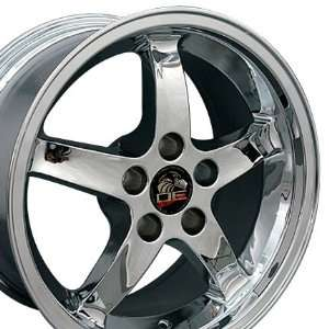 Cobra R Deep Dish Style Wheels Fits Mustang (R)   Chrome17x9 Set of 4