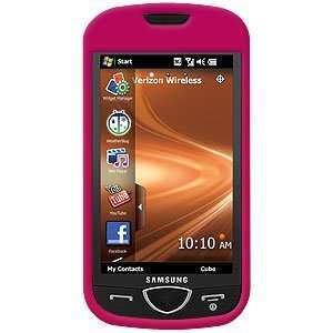 New Amzer Rubberized Hot Pink Snap On Crystal Hard Case