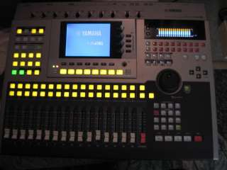 Yamaha AW 4416 multi track recorder/ digital mixer moving faders