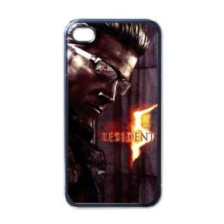 Albert Wesker Resident Evil 5 iPhone 4 4S Hard Black White Case Gift