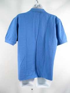 BOGNER Classic Blue Cotton Stretch Knit Polo Shirt M