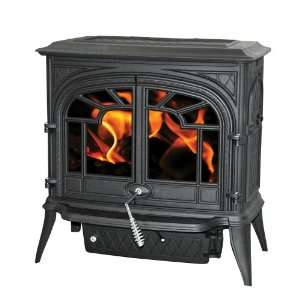Painted Black Wood Burning Stove EPA 1.46 Cubic Foot Cast Iron Wood